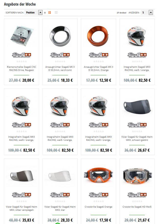 Webseite Angebote der Woche Maxiscoot